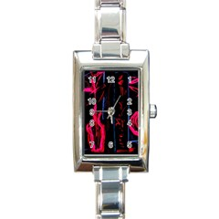 Calligraphy Rectangle Italian Charm Watch by bestdesignintheworld