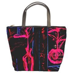 Calligraphy Bucket Bags