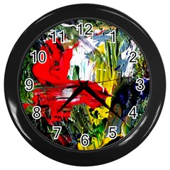 Bow Of Scorpio Before A Butterfly 2 Wall Clocks (black)