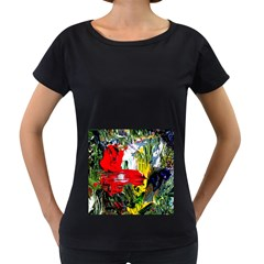 Bow Of Scorpio Before A Butterfly 2 Women s Loose Fit T Shirt (black)