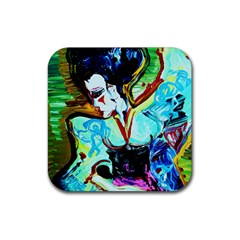 Woman Spirit Rubber Square Coaster (4 Pack)  by bestdesignintheworld