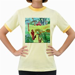Trail 1 Women s Fitted Ringer T Shirts
