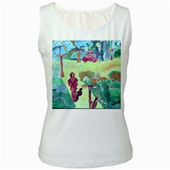 Trail 1 Women s White Tank Top