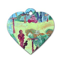 Trail 1 Dog Tag Heart (one Side)