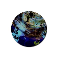 Blue Options 3 Rubber Round Coaster (4 Pack)  by bestdesignintheworld
