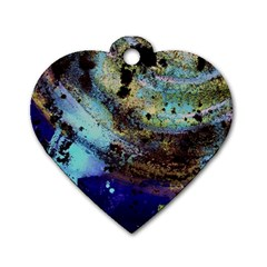 Blue Options 3 Dog Tag Heart (two Sides)