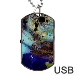 Blue Options 3 Dog Tag Usb Flash (two Sides)