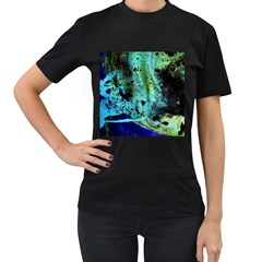 Blue Options 6 Women s T Shirt (black) (two Sided)