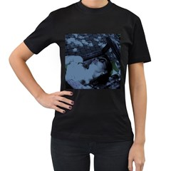 §¯§? §3§ü§?§t§?§?§ü§?   On A Bench Women s T Shirt (black)