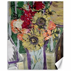 Sunflowers And Lamp Canvas 11  X 14