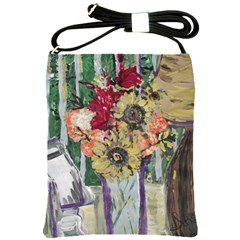 Sunflowers And Lamp Shoulder Sling Bags