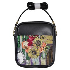 Sunflowers And Lamp Girls Sling Bags