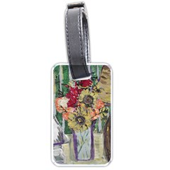 Sunflowers And Lamp Luggage Tags (one Side)