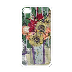 Sunflowers And Lamp Apple Iphone 4 Case (white)