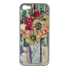 Sunflowers And Lamp Apple Iphone 5 Case (silver)
