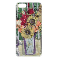 Sunflowers And Lamp Apple Iphone 5 Seamless Case (white)