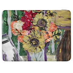 Sunflowers And Lamp Samsung Galaxy Tab 7  P1000 Flip Case
