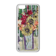 Sunflowers And Lamp Apple Iphone 5c Seamless Case (white)