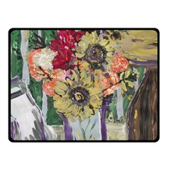 Sunflowers And Lamp Double Sided Fleece Blanket (small)