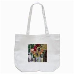 Sunflowers And Lamp Tote Bag (white)
