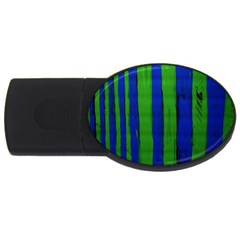 Stripes Usb Flash Drive Oval (4 Gb)