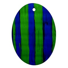 Stripes Oval Ornament (two Sides)