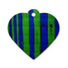 Stripes Dog Tag Heart (two Sides) by bestdesignintheworld