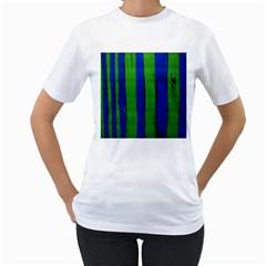 Stripes Women s T Shirt (white)