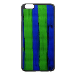 Stripes Apple Iphone 6 Plus/6s Plus Black Enamel Case
