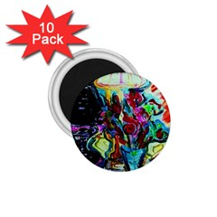 Still Life With Two Lamps 1 75  Magnets (10 Pack)