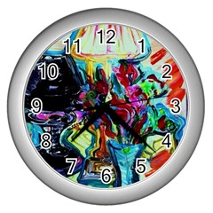 Still Life With Two Lamps Wall Clocks (silver)