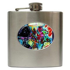 Still Life With Two Lamps Hip Flask (6 Oz) by bestdesignintheworld