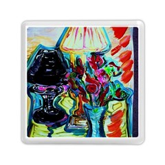 Still Life With Two Lamps Memory Card Reader (square)