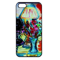 Still Life With Two Lamps Apple Iphone 5 Seamless Case (black)