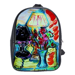 Still Life With Two Lamps School Bag (xl)