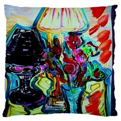 Still Life With Two Lamps Large Flano Cushion Case (one Side)