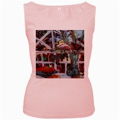 Still Life With Tangerines And Pine Brunch Women s Pink Tank Top