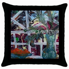 Still Life With Tangerines And Pine Brunch Throw Pillow Case (black)