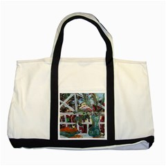 Still Life With Tangerines And Pine Brunch Two Tone Tote Bag