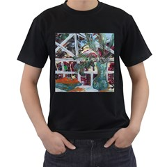 Still Life With Tangerines And Pine Brunch Men s T Shirt (black)
