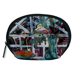 Still Life With Tangerines And Pine Brunch Accessory Pouches (medium)