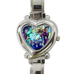 Old Light And New Light Heart Italian Charm Watch