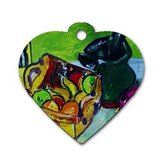 Still Life With A Pig Bank Dog Tag Heart (one Side)
