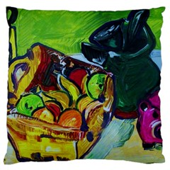 Still Life With A Pig Bank Large Cushion Case (two Sides)