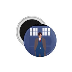 Tenth Doctor And His Tardis 1 75  Magnets