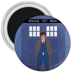 Tenth Doctor And His Tardis 3  Magnets