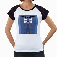 Tenth Doctor And His Tardis Women s Cap Sleeve T