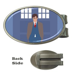 Tenth Doctor And His Tardis Money Clips (oval)