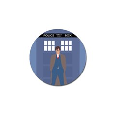 Tenth Doctor And His Tardis Golf Ball Marker (4 Pack)