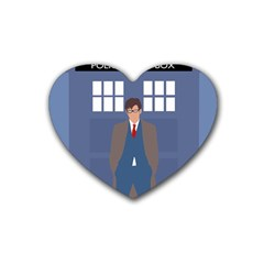 Tenth Doctor And His Tardis Heart Coaster (4 Pack)